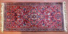 "Small Vintage 2' 0"" x 4' 1"" Finely Woven Sarrouk Rug Complimentary Shipping"
