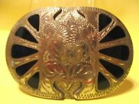 Rare unusual Vintage OLD STORE INVENTORY Hand Made n WYO Belt Buckle