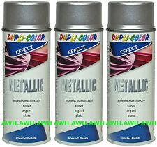 3x400ml Lackspray Metalliklack Sprühlack metalleffekt Metallic Acryllack Silber