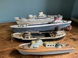 Vintage RC Ships Boat Models Pond Yachts Triang