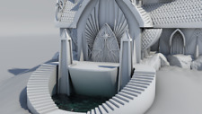Warhammer 9th Age décors impression 3D Maison noble elfique