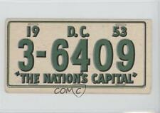 1953 Topps License Plates #34 Washington DC Non-Sports Card 0s4