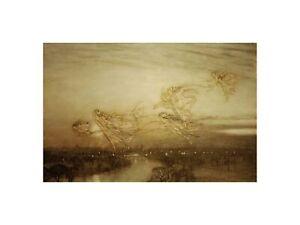 "Arthur Rackham - ""Peter Pan in Kensington Gardens"" 1912 Print 60x80cm"