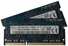 8GB DDR3 (2x 4GB) 1600MHz PC3L-12800S 1Rx8 SO-DIMM 204 PIN portatile Memory Ram