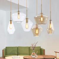 Modern Chandelier Ceiling Lights Glass Champagne Gold Hanging Pendant Loft Lamp
