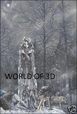 Victoria Frances Hielo Princesa Con Lobos-imagen de fantasía 3D 300mm X 400mm
