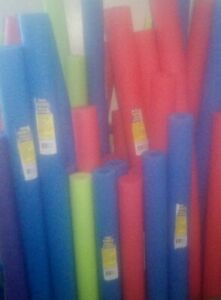 """POOL NOODLES(48"""")VARIETY COLORS WITH CORE HOLE-USE FOR SWIMMING ACTIVITIES,ETC!!"""
