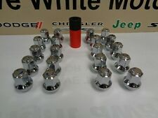 Challenger Charger 300 New Chrome Gorilla Lug Nuts 14x1.5 Hex Acorn and Socket