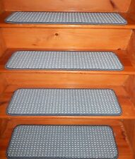 "13 Step  9"" x 30""  + 1 Landing  29'' x 30'' Stair Treads  Wool Woven Tufted ."