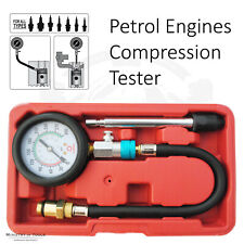Petrol Engine Compression tester Cylinder Tool Valve Pistons Head Gaskets Faults