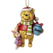 Disney Traditions Winnie The Pooh Hanging Figurine Christmas  Decoration