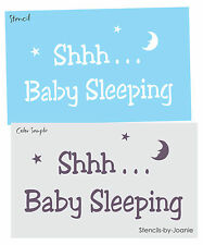 STENCIL Baby Sleeping Moon Star Nursery Bedroom Child Family Country Prim signs