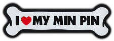 Giant Size! Dog Bone Magnet: I Love My Min Pin | Cars, Trucks, Refrigerators