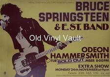 Bruce Springsteen-Hammersmith Odeon UK 1975 concert poster repro