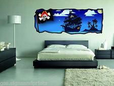 650mmx250mm dormitorio infantil decoración pared Pirata Decoración Adhesiva