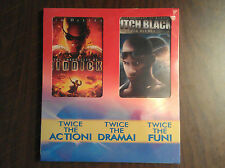 The Chronicles or Riddick & Pitch Black Dvd Movies 2 Movie Set New