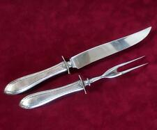 Vintage Sterling Silver Fork & Knife Cutlery Carving Set