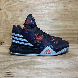 Adidas Light Em Up 2 Basketball Shoes (AQ7588), Men's size 10, Black/Blue/Red
