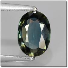 BLUE SAPPHIRE GREEN . 0.83 cts. VS2. Australia. With Certificate of authenticity