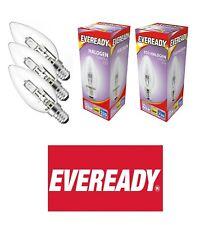 5 x EVEREADY LAMPS 11W = 40W ES E27 ENERGY SAVING CANDLE WARM WHITE BULBS