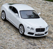 "Bentley Continental 1:36 Model Car 5"" Gift Toy Alloy Diecast White Open Two Door"