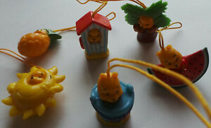 Winnie the Pooh Peek-a-Pooh plastic charms Summer series 6 pieces