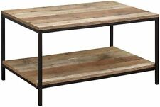 Birlea Urban Coffee Table Wood Rustic Industrial Brown Black H42cm x W80 x D50cm