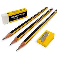 Staedtler Noris Bleistift Set - inklusive 3 X Hb Stifte,Radiergummi und Schärfer