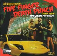 FIVE FINGER DEATH PUNCH - AMERICAN CAPITALIST (+4 Bonus)(2011) CD +FREE GIFT