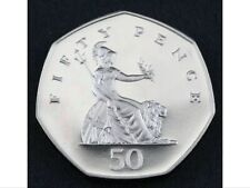 Double Sided 50 Pence Coin