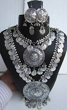 Coin Chain Long Necklace Boho Gypsy Vintage Festival Tribal Bellydance Jewellery