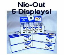 Authentic Nic-Out Cigarette Filters - 5 Displays (100 packs!)