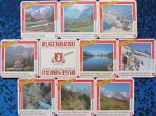 Bierdeckel Serie Sammlung - Schweiz - Rugenbräu Interlaken - Jungfraubahnen 9 v.