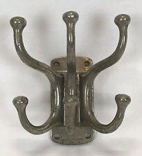 Antique J.L. MOTT IRON WORKS New York Nickel Plated Brass Robe Coat Towel Hooks