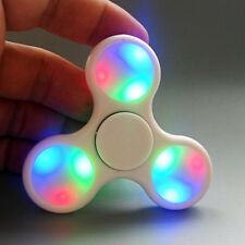 White LED light Fidget Hand Spinner Torqbar Finger Toy EDC Focus Gyro Kids 5IK