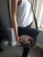 ",(TM) Expres.co Girls Pug School Shoulder Bag 11x15x4""  Personalised Maddison"
