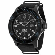 B GLYCINE Combat Sub Automatic 48mm All Black Men's Watch Montre Homme Herrenuhr
