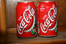2  COCA-COLA Dosen  Bottlecup -  normal + EXPO2000  Deutschland