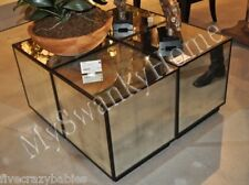 HORCHOW Mirrored Cube Mirror Glass Table Cocktail Coffee Square Neiman Marcus