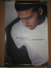 AL B SURE Private Times & Whole 9 promo poster, 1990, 24x36, EX
