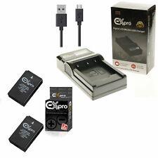 2 x Battery + Car Charger For Nikon EN-EL20 CoolPix A1 J3 J2 J1 S1 V3 Camera【UK】