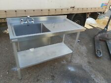 More details for single bowl sink unit heavy duty for commercial restaurant use 120x60x90cm