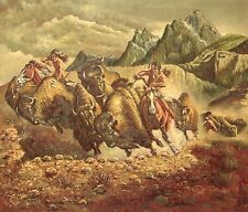"""24""""x20"""" Oil Painting on Canvas, Wild West Scene, Hand Painted"""