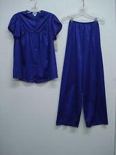 USA Made Nancy King Lingerie Soft Luster Nylon Long Pajama Size S Purple #603Q