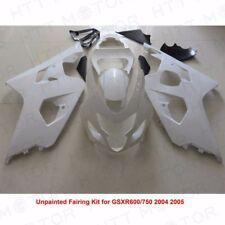 Unpainted Drilled ABS Bodywork Fairing Kit for SUZUKI GSXR600/750 2004 05 SET