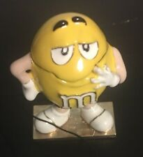 YELLOW M&M PEANUT MONET JEWELRY TRINKET BOX W CHARM ENAMELED NEW $25 retail