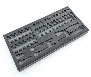 "EVA foam standard deep socket storage toolbox tray 1/4"" tool organiser inc VAT"