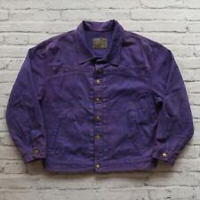 Vintage 90s Marithe Francois Girbaud Stone Washed Denim Jean Jacket Purple