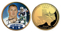 JASON WITTEN Dallas Cowboys 24K Gold Plated Texas State Quarter Coin