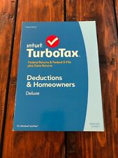 2014 TurboTax Deductions and Homeowners Federal Returns, E file plus State NEW